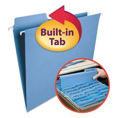 Smead FasTab Hanging File Folders, Letter, Blue, 20/Box
