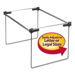 "Smead Hanging Folder Frame, Letter/Legal Size, 12-24"" Long, Steel, 2/Box"