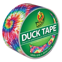 """Duck Colored Duct Tape, 9 mil, 1.88"""" x 10 yds, 3"""" Core, Love Tie Dye"""