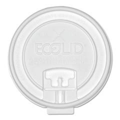 Eco-Products 25% Recy Content Dual-Temp Lk Tab Lid w/Straw Slot, 20oz Insul, 50/PK, 12 PK/CT