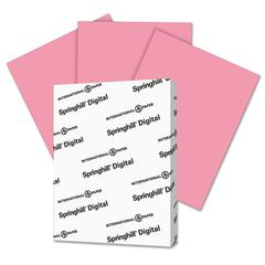 Springhill Digital Index Color Card Stock, 90 lb, 8 1/2 x 11, Cherry, 250 Sheets/Pack