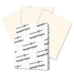 Springhill Digital Vellum Bristol Color Cover, 67 lb, 8 1/2 x 11, Cream, 250 Sheets/Pack