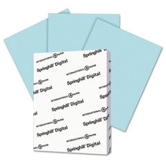 Springhill Digital Index Color Card Stock, 110 lb, 8 1/2 x 11, Blue, 250 Sheets/Pack