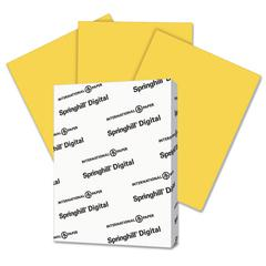 Springhill Digital Vellum Bristol Color Cover, 67 lb, 8 1/2 x 11, Goldenrod, 250 Sheets/Pk