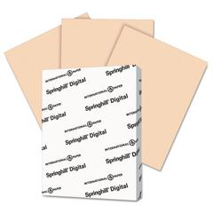 Springhill Digital Vellum Bristol Color Cover, 67 lb, 8 1/2 x 11, Peach, 250 Sheets/Pack