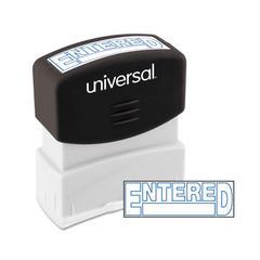Message Stamp, ENTERED, Pre-Inked One-Color, Blue