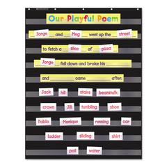 Scholastic Standard Pocket Charts, 34 x 44, Black/Clear