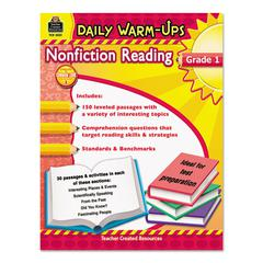 Daily Warm-ups: Nonfiction Reading, Grade 1, 176 Pages