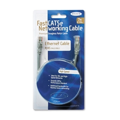 Belkin FastCAT 5e Snagless Patch Cable, RJ45 Connectors, 7 ft., Gray