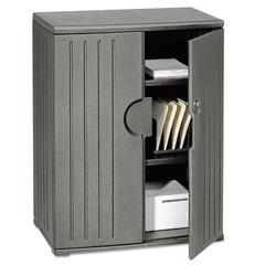 Iceberg OfficeWorks Resin Storage Cabinet, 36w x 22d x 46h, Charcoal