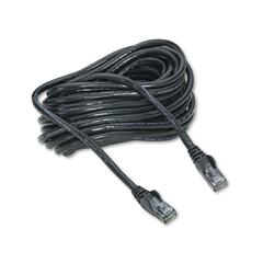 High Performance CAT6 UTP Patch Cable, 25 ft., Black