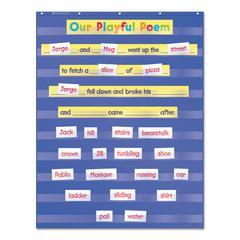 Scholastic Standard Pocket Charts, 34 x 44, Blue/Clear