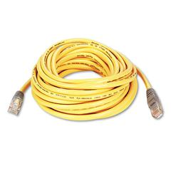 Belkin CAT5e Crossover Patch Cable, RJ45 Connectors, 25 ft., Yellow