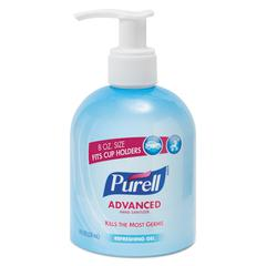 PURELL Advanced Instant Hand Sanitizer Gel, Lemon Scent, 8 oz Bottle, 12/Carton