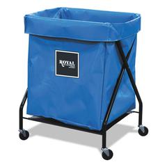 8 Bushel X-Frame Cart with Vinyl Bag, 21 x 26 x 36, 150 lbs. Capacity, Blue