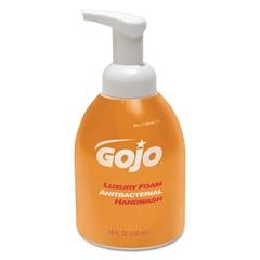 GOJO Luxury Foam Antibacterial Handwash, Orange Blossom, 18oz Pump, 4/Carton