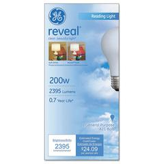 GE Incandescent Globe Bulbs, 200 Watts