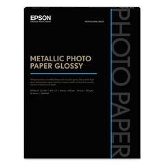 Epson Professional Media Metallic Photo Paper Glossy, White, 8 1/2x11, 25 Sheets/Pack