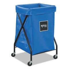 Royal Basket Trucks 6 Bushel X-Frame Cart with Vinyl Bag, 20 x 22 x 36, 150 lbs. Capacity, Blue