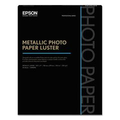 Professional Media Metallic Photo Paper Luster, White, 8 1/2 x 11, 25 Sheets