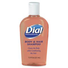 Body & Hair Care, Peach Scent, 7.5oz Flip-Cap Bottle, 24/Carton
