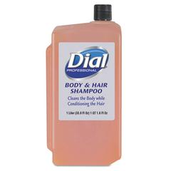 Dial Professional Body & Hair Care, Peach, 1 L Refill Cartridge, 8/Carton