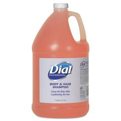Dial Professional Body and Hair Care, 1gal Bottle, Gender-Neutral Peach Scent, 4/Carton