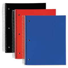 3 Subject, Poly Notebook, 11 x 8, Legal/Wide, Assorted, 120 Sheets