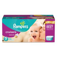 Pampers Cruisers Diapers, Size 5: 27 - 34 lbs, 108/Carton