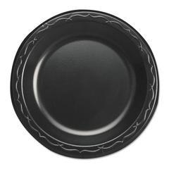 "Elite Laminated Foam Dinnerware, Plate, 6"" Dia, Black,125/Pack, 8 Pack/Carton"