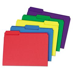 Heavyweight File Folders, 1/3 Cut One-Ply Top Tab, Letter, Assorted, 50/Pack