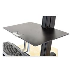 Ergotron Worksurface for WorkFit-S Workstations without Worksurface, 23w x 15d, Black