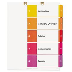 Preprinted Tab Dividers for Classification Folders, 5-Tab, Letter, 3 Sets