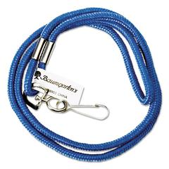 "Baumgartens Rope Lanyard with Hook, 36"", Nylon, Blue"