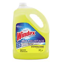 Windex Multi-Surface Disinfectant Cleaner, Citrus, 1 gal Bottle, 4/Carton