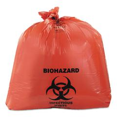 Heritage Healthcare Biohazard Printed Can Liners, 40-45 gal, 3mil, 40 x 46, Red, 75/CT