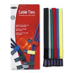 Multicolored Cable Ties, 6/Pack