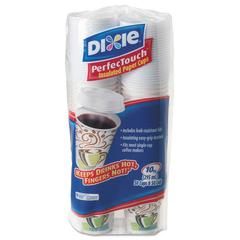 Dixie Combo Bag, Paper Hot Cups, 10oz, 50/Pack