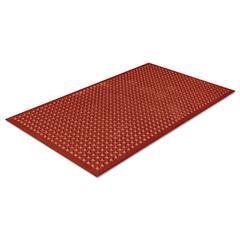 Safewalk-Light Heavy-Duty Anti-Fatigue Mat, Rubber, 36 x 60, Terra Cotta