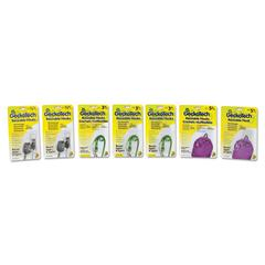 Duck GeckoTech Reusable Hooks, Plastic, 1/2 lb, 3 lb, 5 lb Capacity, Clear, 16 Hooks