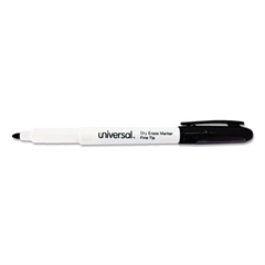 Universal Pen Style Dry Erase Markers, Fine/Bullet Tip, Assorted, 4/Set