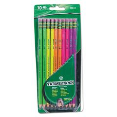 Pre-Sharpened Pencil, HB, #2, Assorted Color Barrels, 10/Set