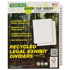 "90000 Series Side Tab Legal Index Divider Set, Printed ""176""-""200"""