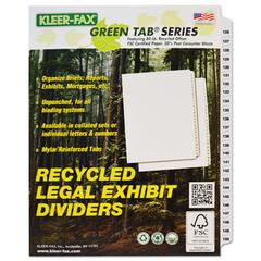 "Kleer-Fax 90000 Series Side Tab Legal Index Divider Set, Printed ""126""-""150"""