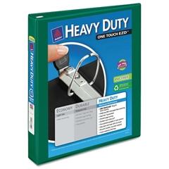 "Avery Heavy-Duty View Binder w/Locking 1-Touch EZD Rings, 1"" Cap, Green"