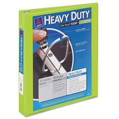 """Avery Heavy-Duty View Binder w/Locking 1-Touch EZD Rings, 1"""" Cap, Chartreuse"""