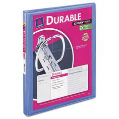 "Avery Durable View Binder w/Slant Rings, 11 x 8 1/2, 1/2"" Cap, Periwinkle"