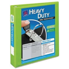 """Avery Heavy-Duty View Binder w/Locking 1-Touch EZD Rings, 1 1/2"""", Chartreuse"""