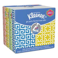Facial Tissue Pocket Packs, 3-Ply, White