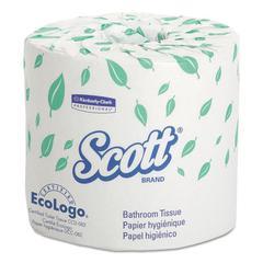 Scott Standard Roll Bathroom Tissue, 2-Ply, 550 Sheets/Roll